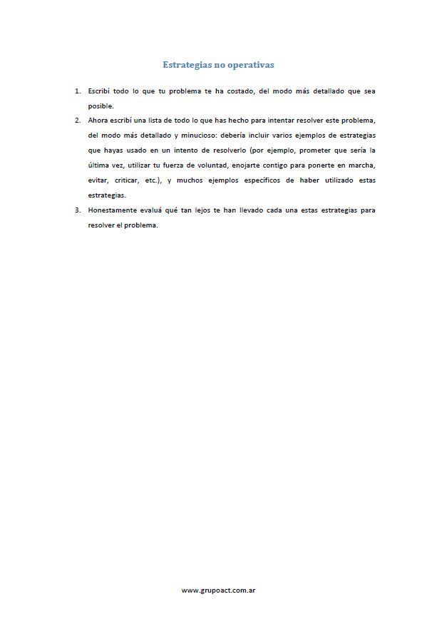 EJERCICIOS PARA PSICOTERAPEUTAS