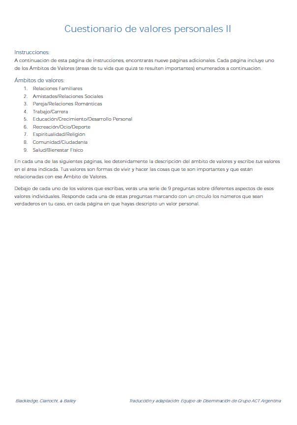 Cuestionarios Para Psicoterapeutas